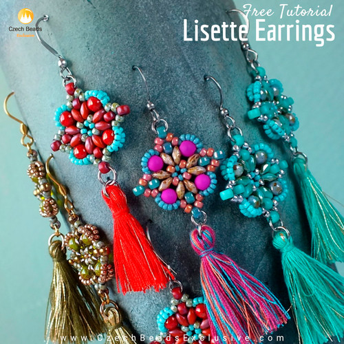 Statement Beaded Earrings with Tassels Tutorial  | Ingenious Tassel and Pom Pom Making Tip