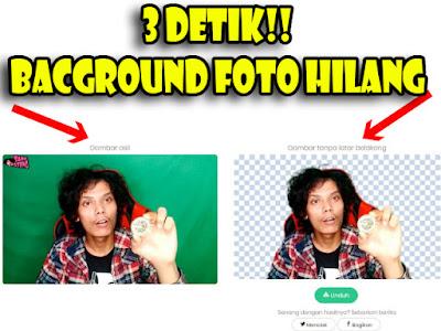 cara menghilangkan background foto