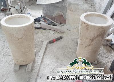 Pot Bunga Marmer Mewah | Pot Bunga