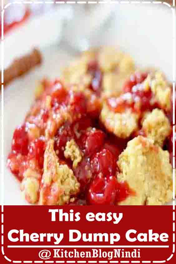 This easy Cherry Dump Cake