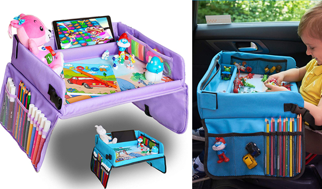 Road Trip Packing Essentials For Kids Giveaway - Kids Bright Toys Travel Tray image