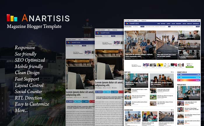 Anartisis - News & Magazine Blogger Template
