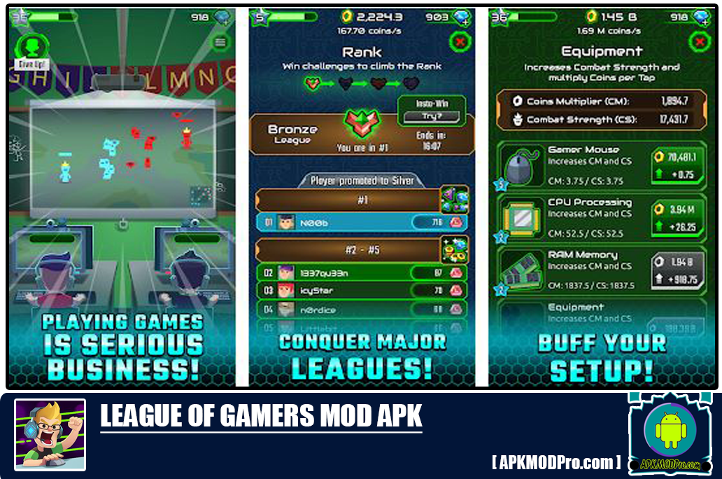 League of Gamers Mod Apk 1.4.1 (Unlimited Money)
