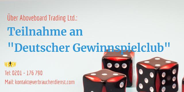 Beitragsbild: Deutscher Gewinnspielclub | Aboveboard Trading Ltd.