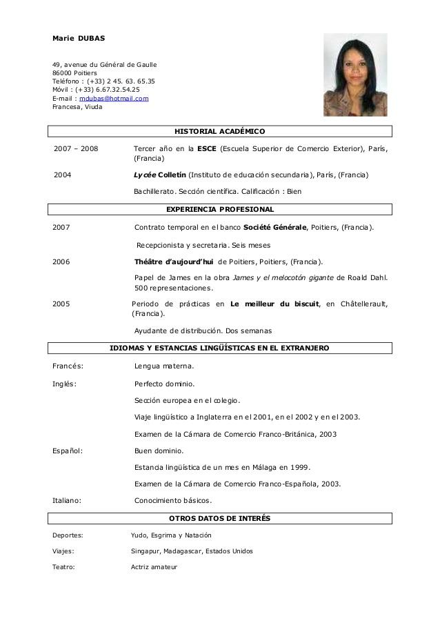 Modelos De Curriculum Vitae No Documentado Word How To Write And Essay