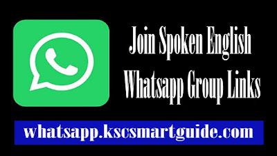 Join Spoken English Whatsapp Group Links