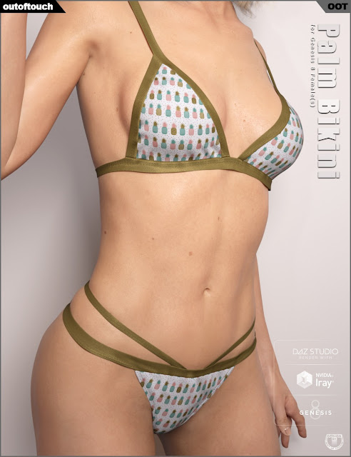 Palm Bikini for Genesis 8 Female