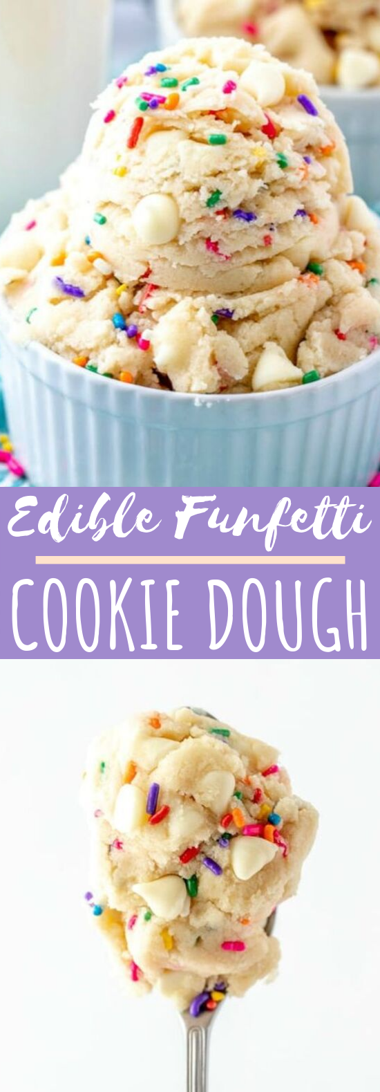 Funfetti Edible Cookie Dough #desserts #cookies