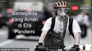 agar nyaman bersepeda selama pandemi