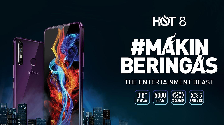 Harga dan Spesifikasi Infinix Hot 8 RAM 2GB ROM 32GB Baterai 5000mAh Terbaru di Indonesia