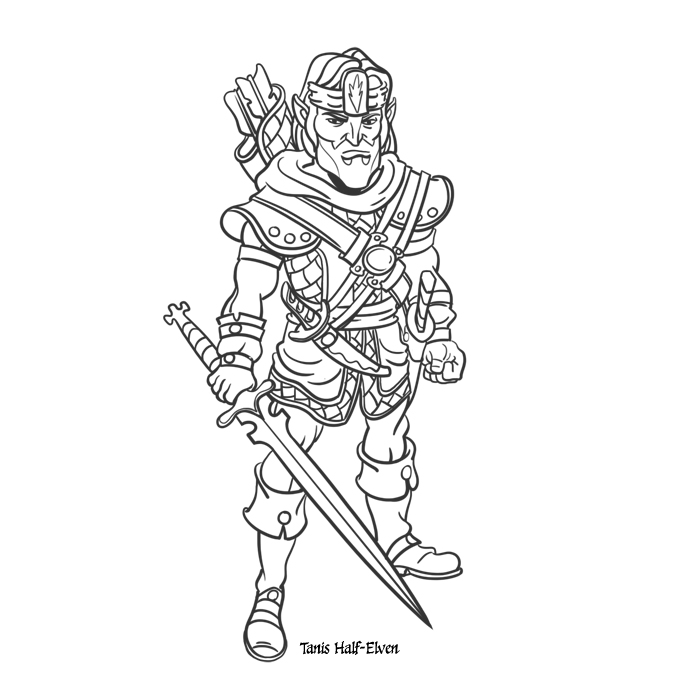 Rick Lacy: Character Design: Tanis Half-Elven