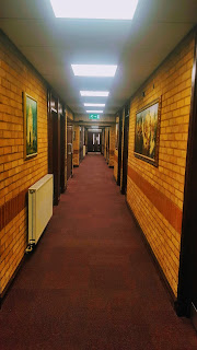 The corridor in our chapel... it's the only picture I could find!