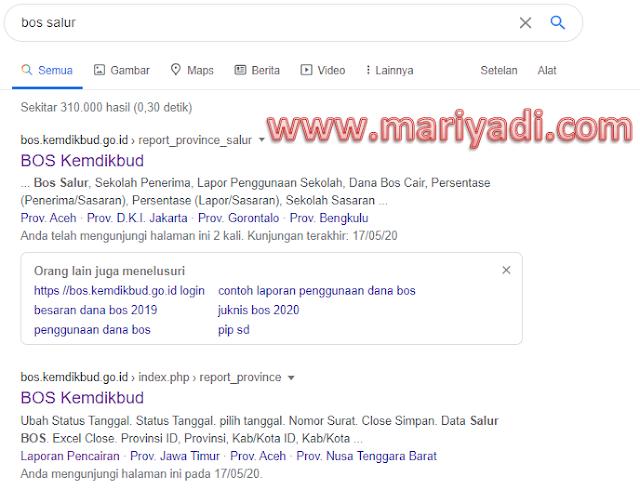 Cara Cek Dana BOS 2020, Cara cek BOS Sudah Cair atau Belum di bos.kemdikbud.go.id