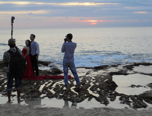 Tegal Wangi Beach Sunset