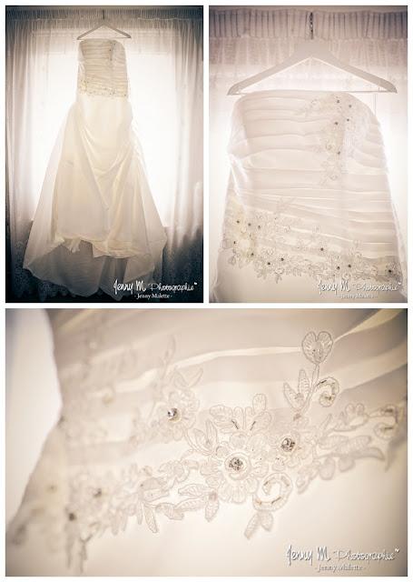 robe de la mariée, détails, photo
