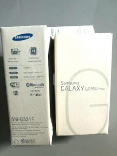 Dus Handphone Samsung Grand Prime SM-G531F G531F Bekas Mulus