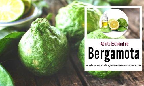 Lista de usos del aceite esencial de bergamota en aromaterapia.