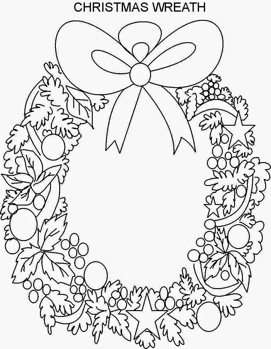 coloring pages christmas wreaths - photo#24