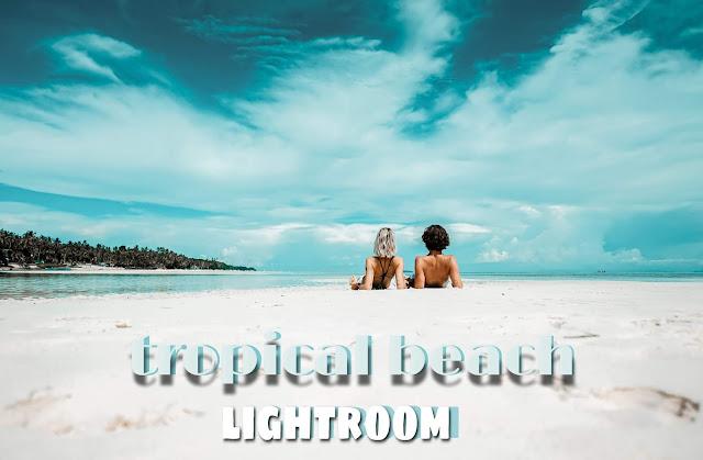 edit foto pantai dengan lightroom