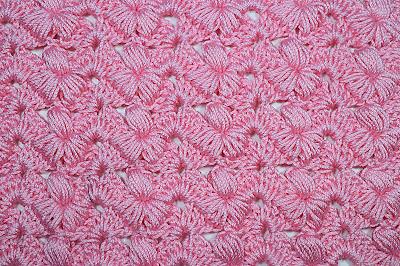 1 - Crochet Imagen Puntada preciosa con punto puff y abanicos por Majovel Crochet