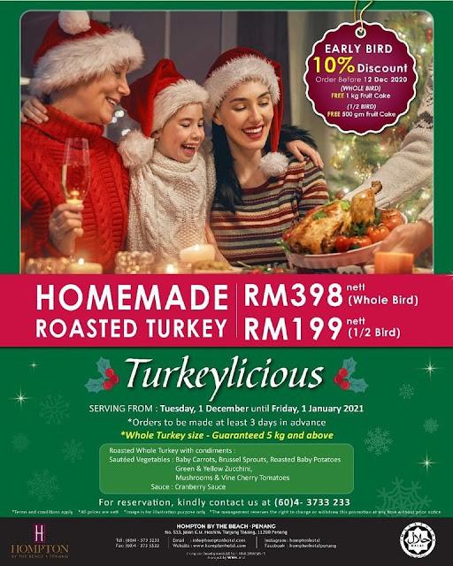 Christmas Turkey Hompton Hotel Penang Penang Blogger Influencer Malaysia