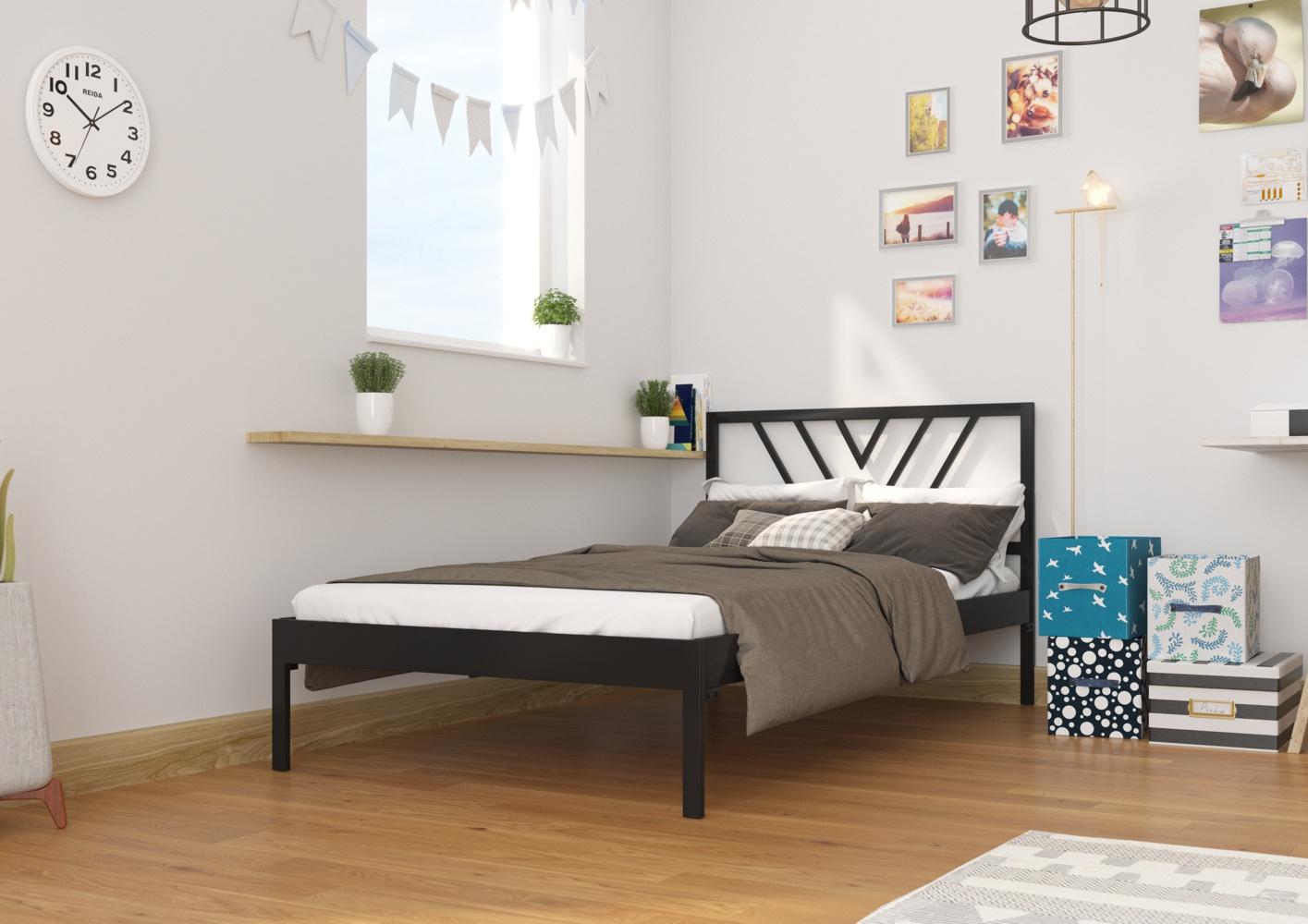 Łóżko metalowe wzór 5 na szerokość 120 cm