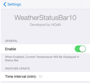 How to Add Current Temperature in Status Bar of iPhone?
