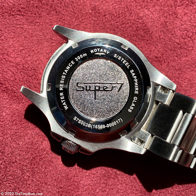 Rotary Super 7 Scuba for WatchNation case back