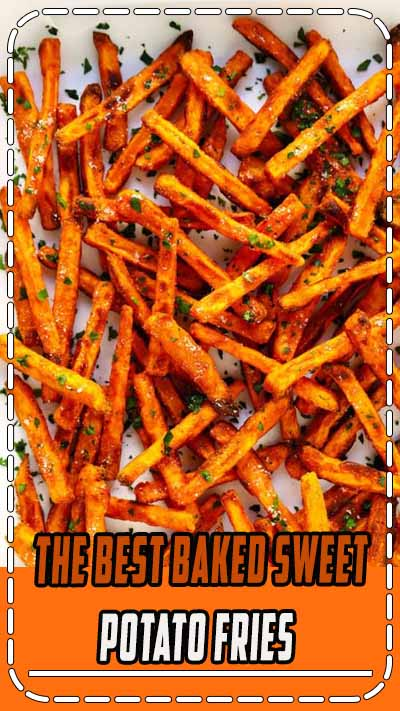 The BEST Baked Sweet Potato Fries Recipe! As in, ultra crispy, perfectly seasoned, and irresistibly delicious. Perfect when served as an appetizer, side dish, or snack. And also naturally gluten-free, vegan and vegetarian. | Gimme Some Oven #sweetpotato #fries #healthy #baked #side #snack #appetizer #gameday #recipe