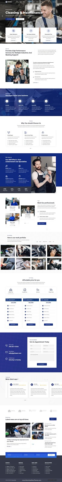 Auto Cleaning & Maintenance Template