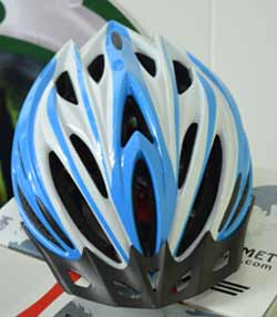 Casco Blue n white