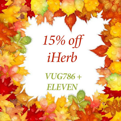 Codes for 15% off iHerb orders over $40 for selected coutries