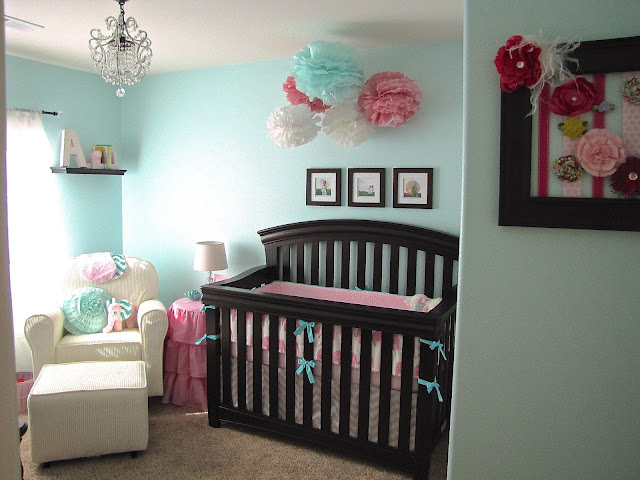 Light Pink And Aqua Nursery