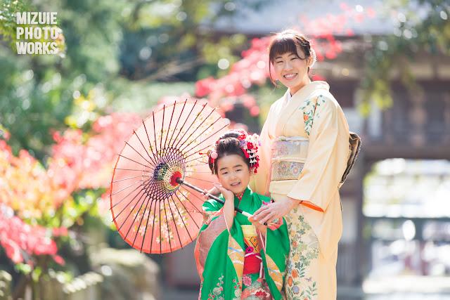 坂井市三国神社で七五三ロケーション撮影