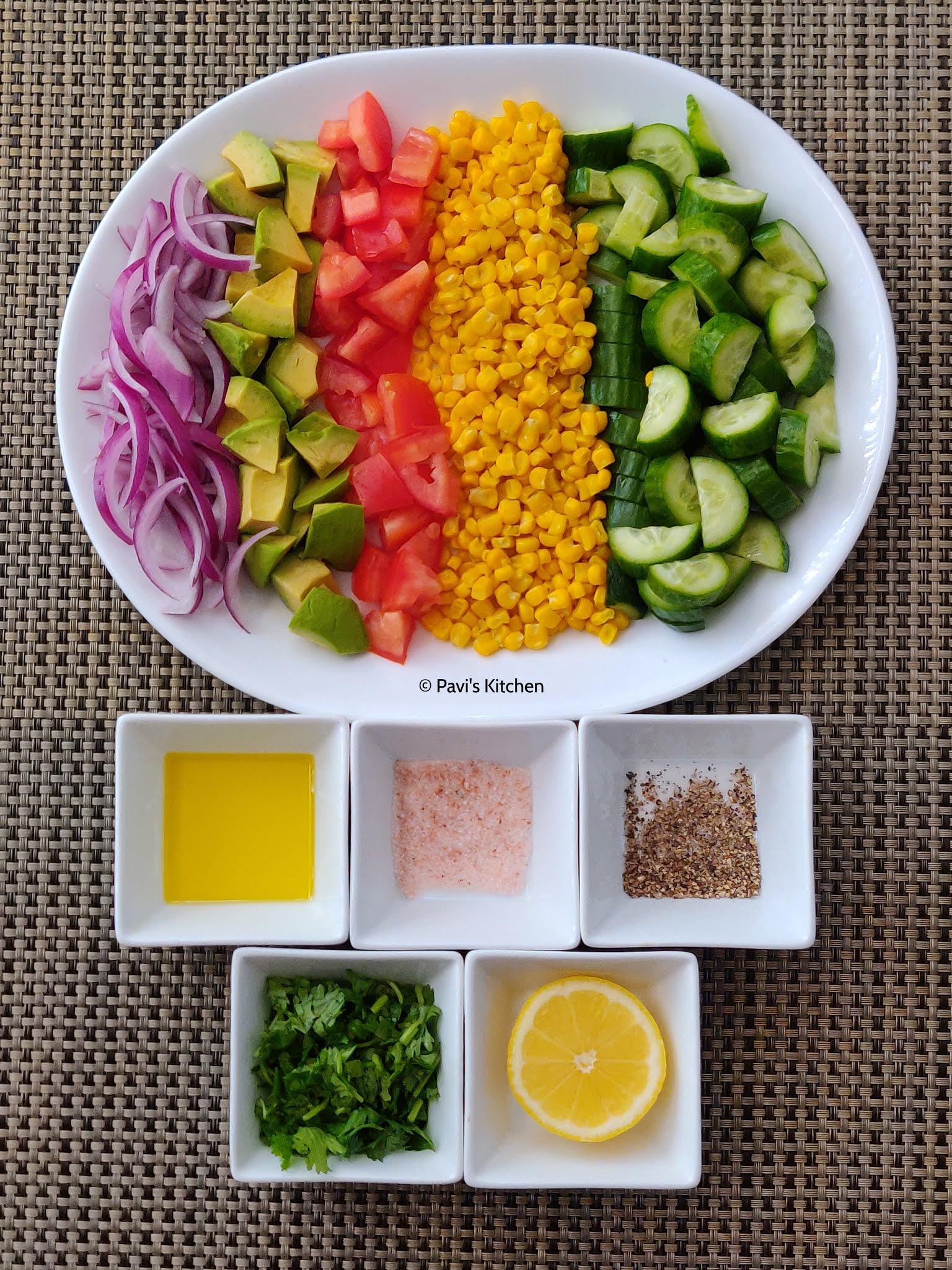 Avocado salad recipe | Indian avocado salad | Butter fruit salad recipe | Healthy Vegan
