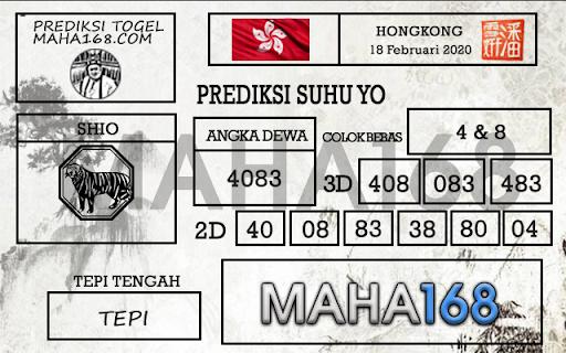 Prediksi Togel Hongkong JP 17 Februari 2020 - Prediksi Suhu Yo