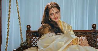 Rekha during Book Launch Rekha : the untold story
