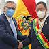 Juntos, Fernández y Arce condenaron el envío de material bélico a Bolivia durante el golpe a Evo