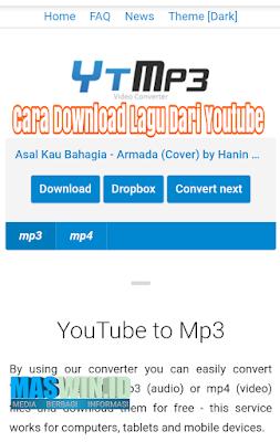 Begini cara mendownload lagu dari youtube tanpa aplikasi 2019