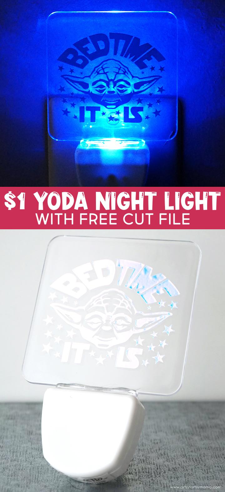 $1 Yoda Night Light with Free Cut File
