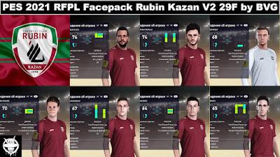 PES 2021 RFPL Facepack Rubin Kazan V2 29F by BVG