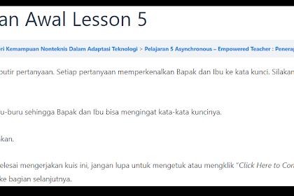Jawaban Penilaian Awal Pelajaran 5 Seri Semangat Guru