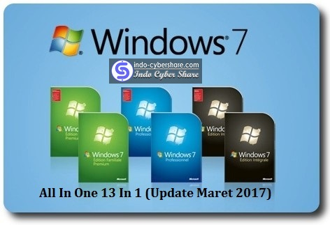 Windows 7 Sp1 All In One (x86 x64) 13 in 1 En-Us Update Maret 2017