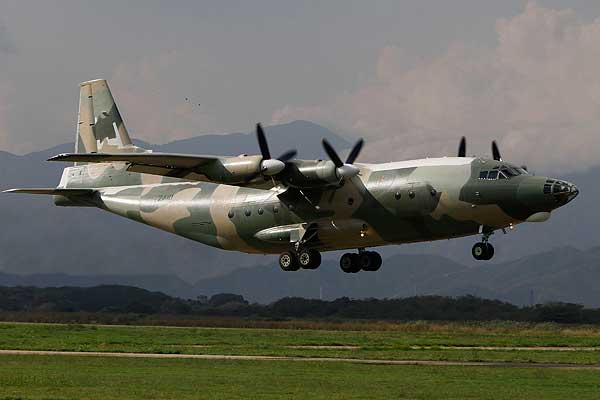 Image Attribute: Venezuelan Shaanxi Y-8F200VV four-engine turboprop tactical military transport aircraft. Currently being deployed with the American C-130H Hercules.
