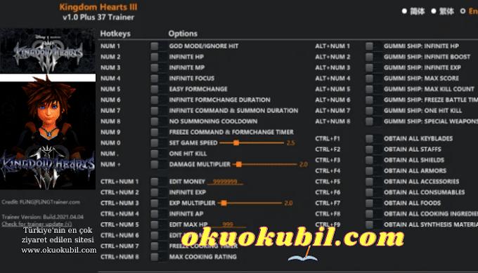 Kingdom Hearts 3: 1.0 Sağlık + Mp +37 Trainer Hilesi İndir