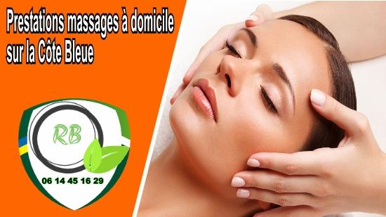 Prestations massages à domicile sur la Côte Bleue;