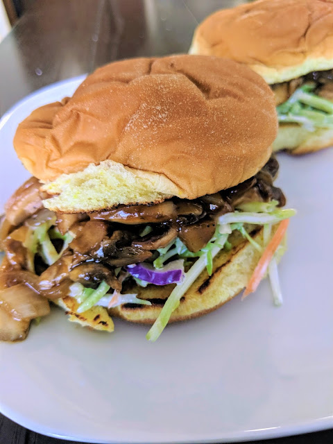 Pulled BBQ Mushroom Sandwich