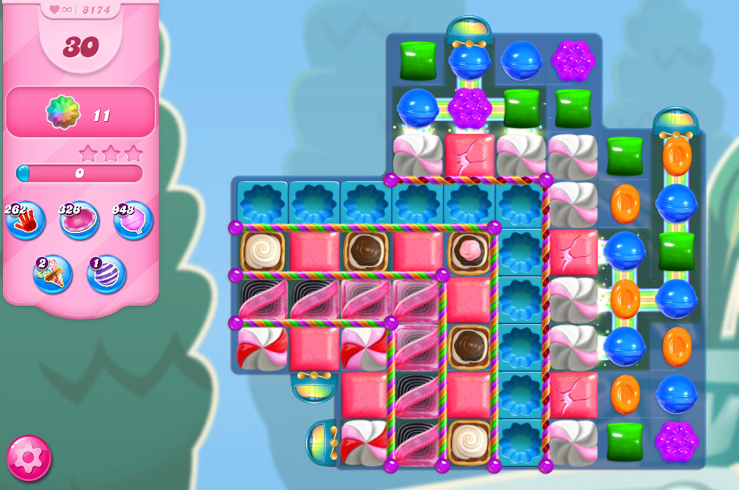 Candy Crush Saga level 8174