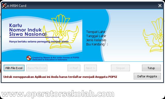 Aplikasi cetak kartu NISN dapodik _ E-NISN