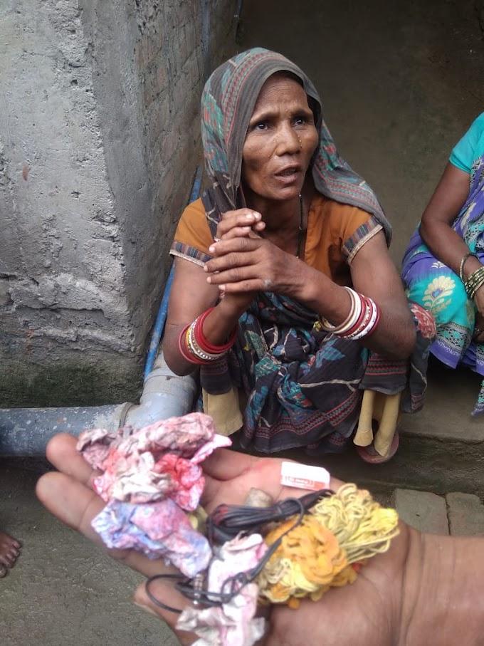 बच्चा चोरक संदेह में अज्ञात महिला केर ग्रामीण सब पकैड़ के सोंप देलक पुलिसक हाथ।